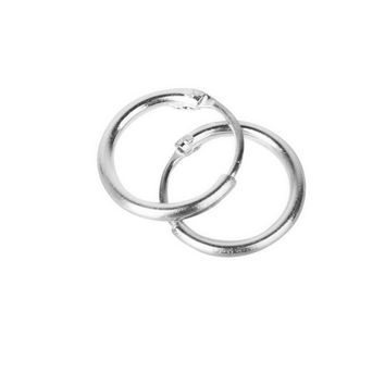 3 Pairs Non-allergic 925 Sterling Silver Sleepers Hinged Hoop Earrings 8 10 12mm ee