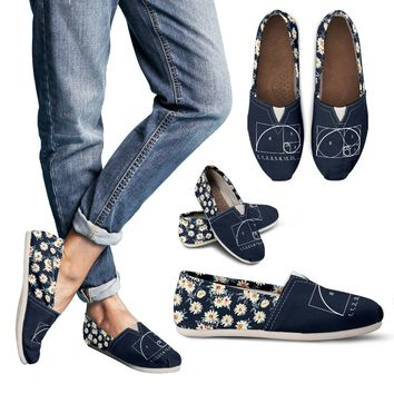 Floral Golden Ratio Casual Shoes