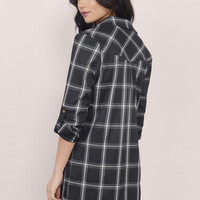 On Check Button Up Dress $52