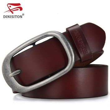 Luxury Belts for Men Genuine Leather Strap Male Fashion Man Wide Tactical Belt High Quality 2 Colors CR