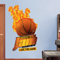 Baketball sticker for housewares - 49.2 x 77.6 in