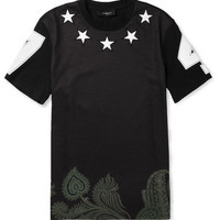 Givenchy Star-Embellished Printed Cotton T-Shirt | MR PORTER