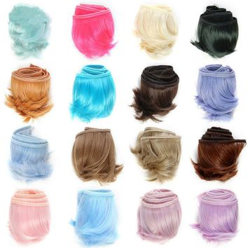 2016 Hot Sale 5cm*100cm Doll wigs Dolls Accessories For 15 Color Free Shipping