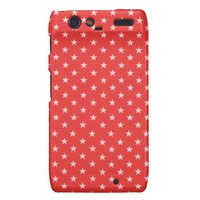 Poppy Red And White Stars Droid RAZR Cases from Zazzle.com