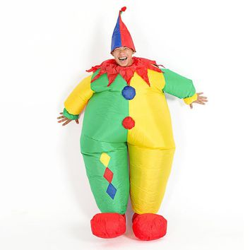 Peradix Inflatable Clown Show Costume Party Halloween Fancy Dress For Adult Kids