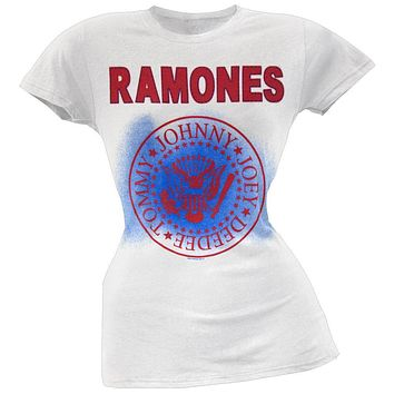 Ramones - Presidential Seal Logo Juniors T-Shirt