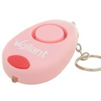 Vigilant PPS22P 130dB Panic Rape Emergency Personal Alarm Keychain + LED Light (Pink)