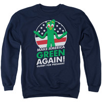 Gumby For President Adult Crew Neck Sweatshirt