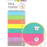 Colorful Animal Face Rectangular Memo Post-it Sticky Note Tabs | Cute Animal Themed Stationery