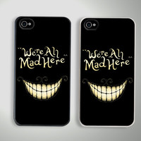 Alice We're All Mad Here Custom iPhone 4/4S Case Cover