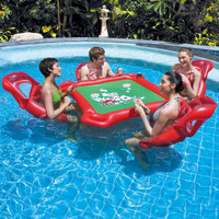 Floating Table  +4 chairs Chess Inflating Swimming Adult Inflatable Toys Outdoor Funny Toy