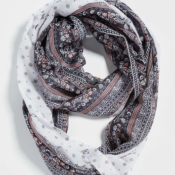 two print infinity scarf | maurices