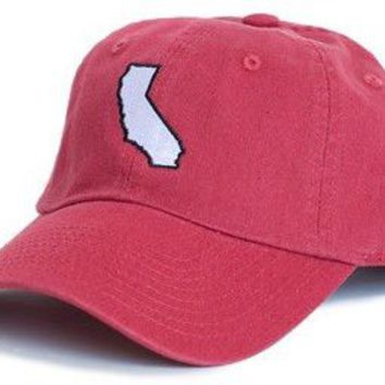 California Palo Alto Gameday Hat in Cardinal Red by State Traditions