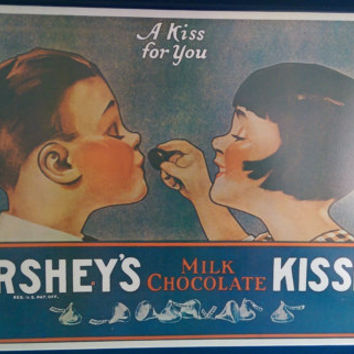 Hershey's Kiss Serving Tray/ Hershey Kisses Memorabilia/ Hersheys Kisses Tray/ Vintage Advertising Tray