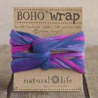 Pink,  Blue  &  White  Tie-Dye  Boho  Wrap  From  Natural  Life