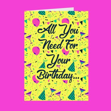 2 Chainz All I Want For My Birthday Is A Big Booty Ho Birthday Card (No Sound)