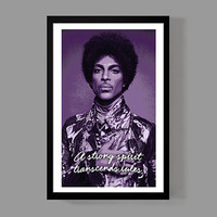 Prince Custom Poster - A Strong Spirit Transcends rules - Inspirational Quote Print, Music, Motivational