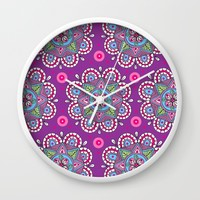Star Flowers Wall Clock by Sarah Oelerich