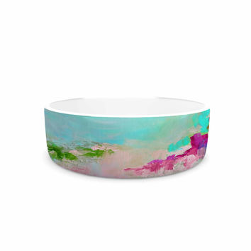 "Ebi Emporium ""Something About the Sea 2"" Teal Pink Pet Bowl"