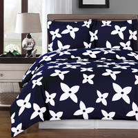 Desiree Navy Duvet Cover 100% Egyptian Cotton