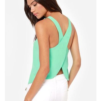 Criss Cross Sleeveless Top