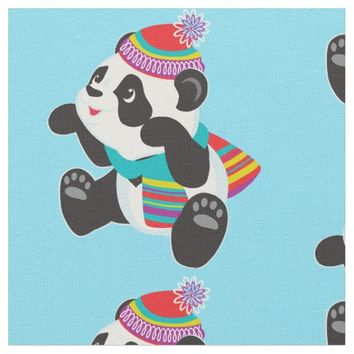 cartoon panda fabric