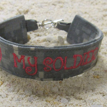 Army Mom Customizable Name Tape Military Bracelet