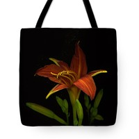 """Day Lily with Pollen Tote Bag 18"""" x 18"""""""