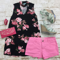 Beauty in Bloom Top: Black