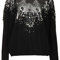 Knitted Sequin Scatter Jumper - New In This Week  - New In