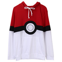 Pokemon Go Men Hoodies Sweatshirts Long-sleeved Hooded Harajuku Jersey
