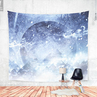 Even mountains get cold Wall tapestry