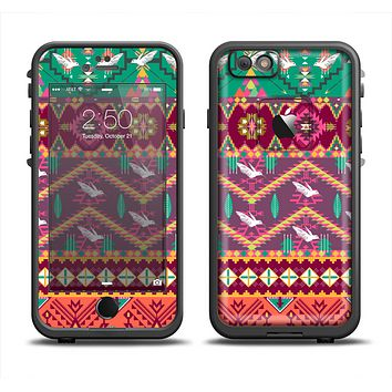The Vector Aztec Birdy Pattern Apple iPhone 6 LifeProof Fre Case Skin Set