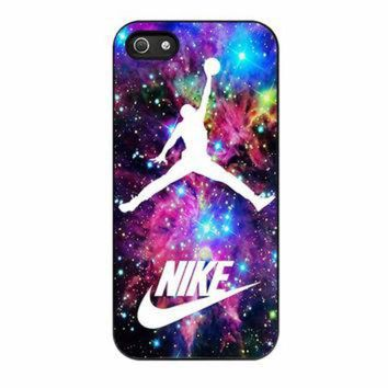 CREYUG7 Michael Jordan On Galaxy Nebula New Custom iPhone 5 Case