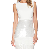BCBGMAXAZRIA Evening Dress in White