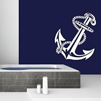 Wall Decal Anchor Nautical Vinyl Sticker Decals Bathroom Home Decor Art Design Interior NS578
