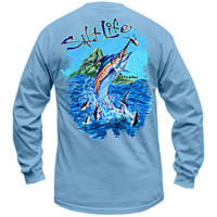 Salt Life | - Aloha Marlin Long Sleeve Pocket Tee