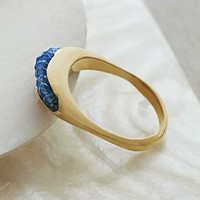 artisan channel set sapphire ring from RedEnvelope.com