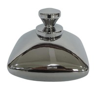 Gleaming Decorative Ceramic Covered Bottle, Silver