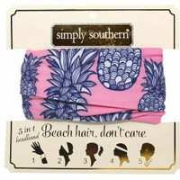 Simply Southern Pineapple Headband- Pink