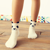 Cartoon Panda Socks
