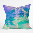 Caleb Troy Mountain Meadow Painted Clouds Throw Pillow