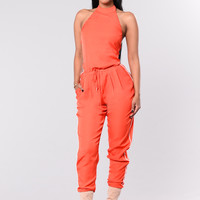 Hot Tottie Jumpsuit - Red