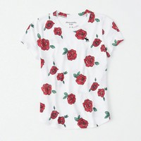 girls icon pattern crew tee | girls new arrivals | Abercrombie.com