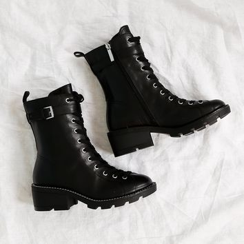 KENDALL + KYLIE | Prime Combat Boot - Black