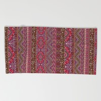 Farah Stripe Red Beach Towel by Aimee St Hill