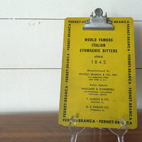 Vintage Industrial Chic Advertising Clipboard 1960s