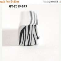 On Sale White and Black Zebra Cane Raw Unbaked Polymer Clay Cane for  Bead Making