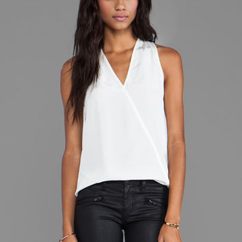 Tibi Solid Heavy Halter Top in Ivory from REVOLVEclothing.com