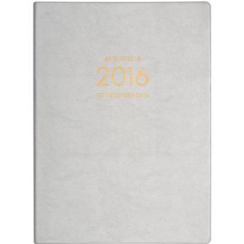 2015-2016 Paper Source Large Silver Leatherette Planner